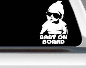 Baby on board sticker | Car window decal | Window Decal | Car decal | vinyl decal | Baby sticker | Baby on board decal