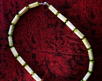 Green Paper Bead Necklace