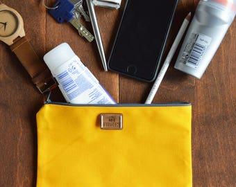 zipper pouch, makeup pouch, medium pouch, medium pouch, makeup bag, zipper pouch, canvas zip pouch, medium zipper pouch
