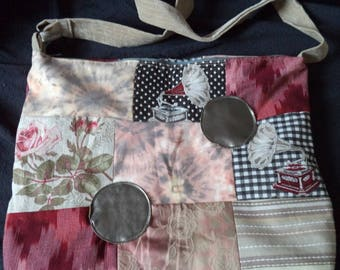 patchwork of beautiful quality fabric handbag