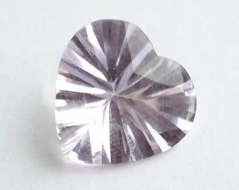 Amethyst, 4 ct amethyst, genuine amethyst gemstone, loose amethyst gem, heart shape amethyst, heart gemstone, 4 ct, 12.5 mm x 12.5 mm x 6 mm
