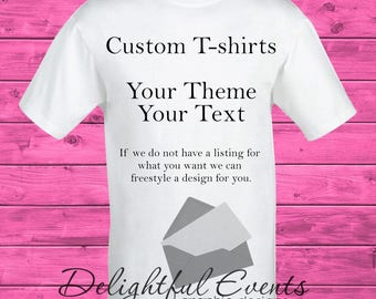 Custom T Shirt Personalized Iron On Transfer Design