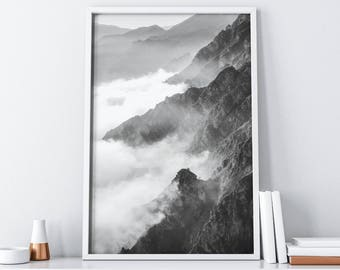 Mountain Printable Art| Forest Printable Art| Landscape Printable| Extra Large Wall Art| Scandinavian/ Nordic Wall Decor| Wall Hanging DIY