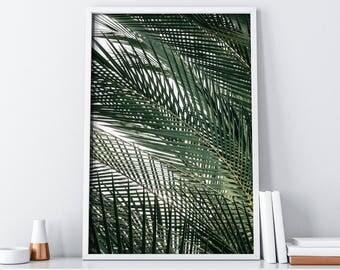 Tropical Leaves Home Decor| Palm Tree Wall Print| Extra Large Wall Art| Palm Leaf Print| Palm Printable Art| Palm Leaves Print| Palm Print