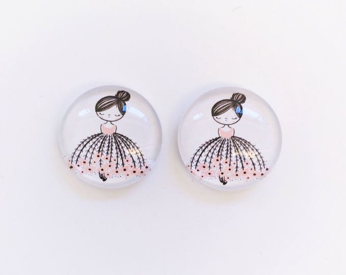 The 'Prima Ballerina' Glass Earring Studs