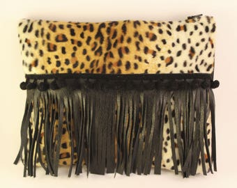 Ipad Tablet cover fringes animal skin
