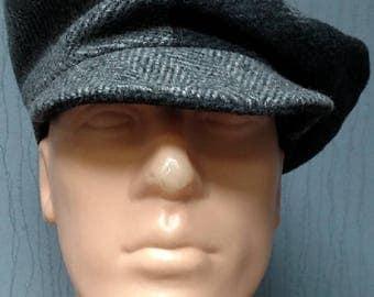 Herringbone cabbie cap