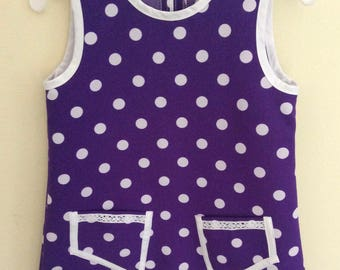 Dress with dots, made in Germany, dress girl