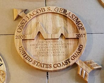 Personalized US Coast Guard / Navy OS plaque