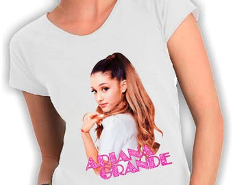Ariana grande-neck woman t shirt