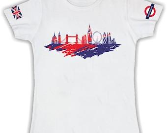 T shirt basic donna london skyline