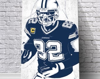 Jason Witten Dallas Cowboys Canvas Print: Wall Art - Print - Wall Decor - Man Cave Decor - Digital Illustration