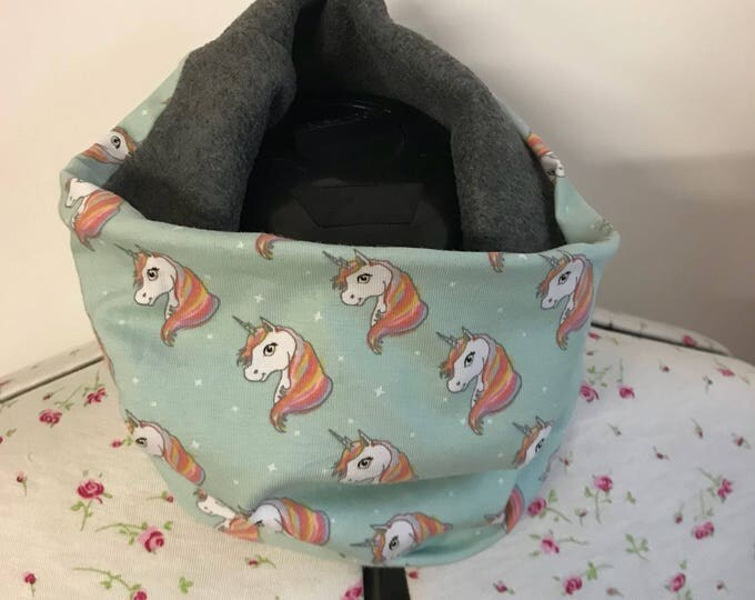Neck warmer, fleece lined, stretch jersey, neck cosy, cowl, snood, scarf, buff, girls, stocking filler