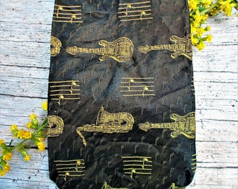 Electric Guitar Necktie,Rock and Roll Necktie,Jazz Player Necktie,Sax Player Tie,