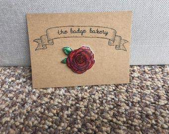 Vintage Rose Pin Badge