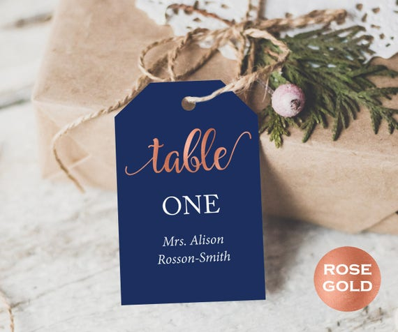 Wedding Table Number Printable