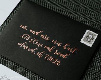 Calligraphy Envelopes, Custom Calligraphy Envelope Addressing, Hand Lettered, Wedding Calligraphy, Envelope Address, Lettering