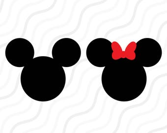 Mickey Minnie SVG, Mickey Head SVG, Disney Castle SVG Cut table Design,svg,dxf,png Use With Silhouette Studio & Cricut_Instant Download