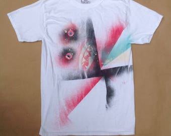 White Monster Spray Tee