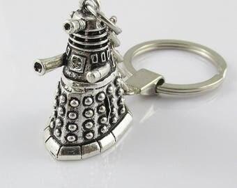Dr Who Inspired Dalek Keychain Keyring Key Ring Great Gift