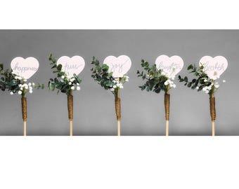 A Little Wordy Attendant Bouquets