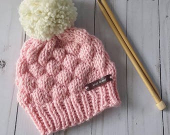 ON SALE/Ready to ship/Knit baby hat/knit hat/knit baby beanie /knit baby gift/ 3-6 month baby girl hat/knit girl hat/babyshower gift
