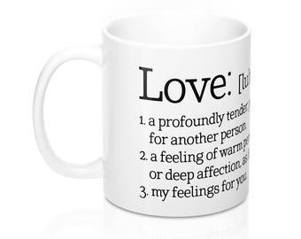 Liebe Definition Definition Von Liebe Meine Gefühle Für Sie Tasse Tee  Kaffee Kaffeetasse Geburtstag Valentinstag Tasse