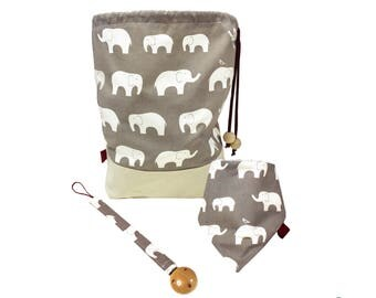 Baby gift set - Baby accessories - Elephants
