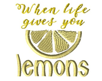 Embroidery File 5x7: Lemons