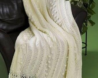 Simply Soft, Crochet Afghan Throw, Crochet Pattern, PDF, Digital Download