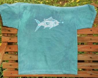 Aqua Fish Tee - Hand Batik