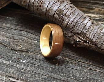 Walnut & Maple Bentwood Ring
