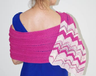 SHAWLS from Merino Wool in the jagged pattern