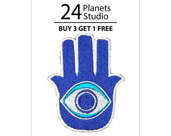 Hamsa Hand Iron on Patch by 24PlanetsStudio