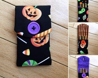 Lipsense pouch halloween themed pouch holder collection pumpkin print lipgloss case senegence