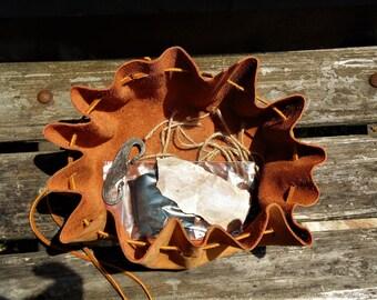 Viking style flint and steel kit