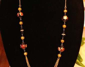Gold color chain with beads and spacers