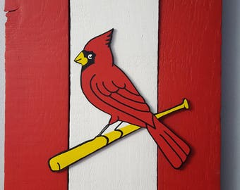 St. Louis Cardinals Baseball Wooden Wall Decor Sign