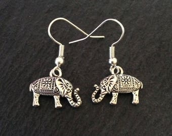 Elephant earrings / elephant jewellery / elephant lover gift / animal earrings / animal jewellery / animal lover gift