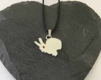 Children's white bunny necklace / children's animal jewellery / rabbit jewellery / animal jewellery / animal lover gift