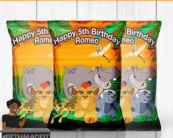 Lion Guard Birthday Party, Lion King, Party Favor, Chips Bag, Party Decor, Kids, Toddler, 1st Birthday
