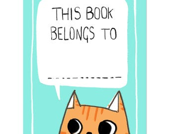This Book Belongs To... 10cm Bookplate Sticker