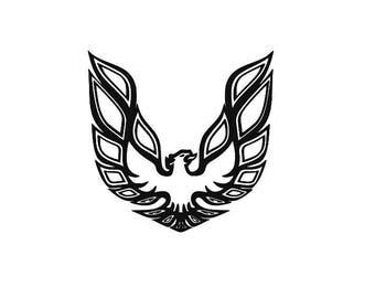 Car Fire Bird Logo Vinyl Decal