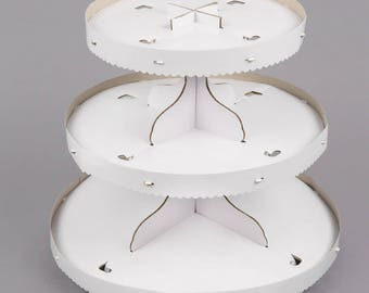 1 PC 3 Tier White Disposable Cupcake Display, Cupcake supplies, Cupcake stand, Cupcake display, Cake Display, Cake stand, party supply, cake