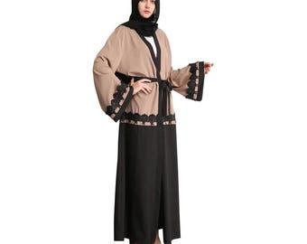 Latest open abaya kimono