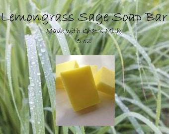 Goat's Milk Soap Bar - Lemongrass Sage Scent; Goat's Milk Soap; Lemongrass Soap; Fine Skin Care; Spa Products