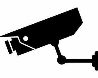 Security Camera Decal Car Home Wall Phone Truck Laptop Decal