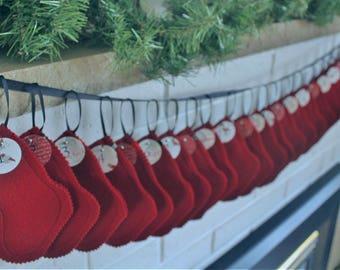 Red Felt Advent Stockings