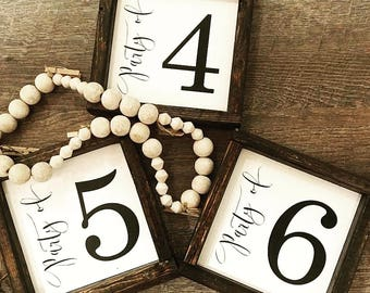 Mini Party of family sign, party of number sign, number sign, party of sign, family sign, family number sign