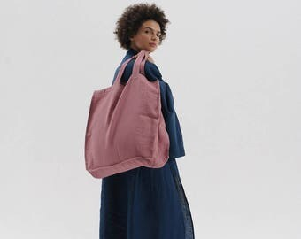 LINEN Tote bag DUSTY PINK